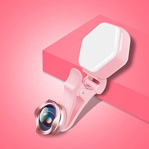 MEETGG Selfie Riempimento LED Lampato Flash Lens Beauty Light Lampada, Clip USB Ricaricabile LED Smartphone Photo Camera Anello, Telecamera Le Lenti Trucco Fotografia Videocamera Videocamera, B
