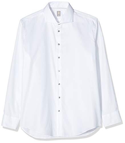 Jacques Britt Herren Roma (98) Businesshemd, Weiß (Weiss 1), Large (Herstellergröße: 41/L)