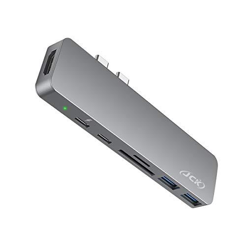 """JCK USB C Hub, MacBook Pro Air Adapter mit 4K-HDMI, 2X USB 3.0, Thunderbolt 3 Port zur Aufladung, SD/TF-Kartenleser, USB-C Adapter Hub für MacBook Pro 2016-2020, 13/15/16\"""", MacBook Air 2018-2020"""