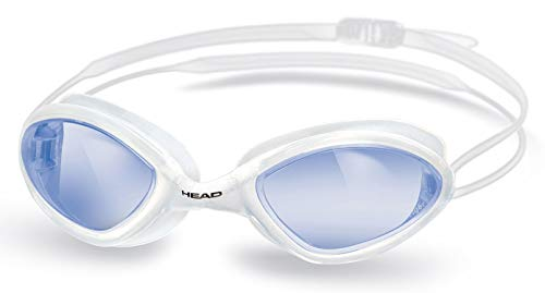 HEAD Erwachsene Schwimmbrille Tiger Race Liquidskin, Clear-White-Blue, One Size