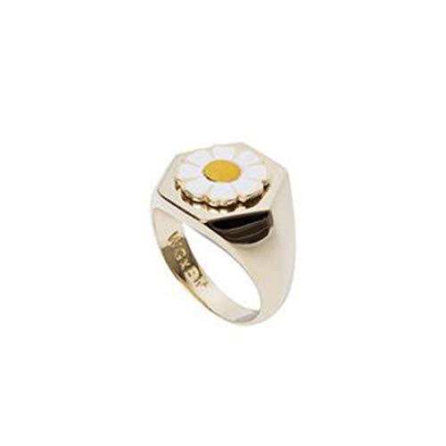 2020 Verano debe tener un único chapado en oro anillos fiesta esmalte niña flor Daisy Tulip nutrición suelo Círculo Mujeres