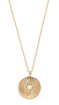 gorjana Women s Sunburst Coin Pendant Adjustable Medallion Necklace 18 Gold Plated