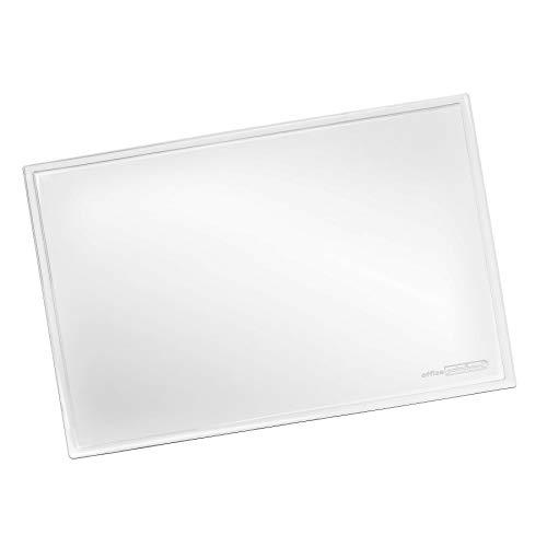 OFFICE POINT - Vade de escritorio transparente con superficie lisa para la oficina y el lugar de trabajo, lavable, antideslizante, de cristal, 60 x 40 cm