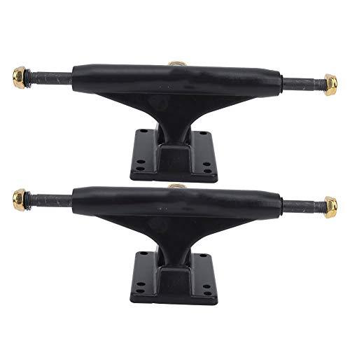 Keenso Skateboard Trucks, 2PCS Robuste Aluminium Skateboard Halterung Leichte Tensor Trucks Skateboards(Schwarz)