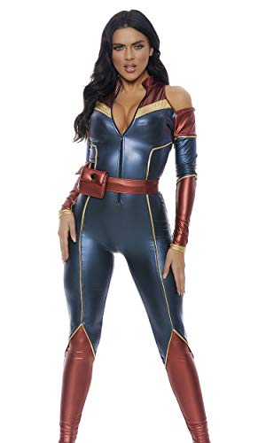 Forplay Women's Space Soldier Sexy Superhero Costume, Blue, XS/S
