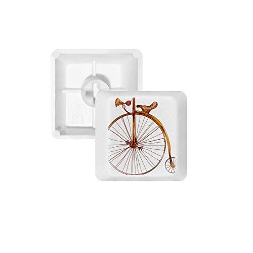DIYthinker Altertümlich Fahrrad High Wheeler Britannien PBT Keycaps für Mechanische Tastatur Weiß OEM Keine Markierung Drucken R2