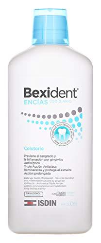 Isdin Bexident Encías Uso Diario Colutorio, Previene el sangrado y la inflamación por gingivitis, Higiene bucal diaria 1 x 500 ml