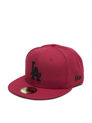 New Era Gorra 59FIFTY MLB League Essential L.A. Dodgers Rojo Cardenal-Negro -...