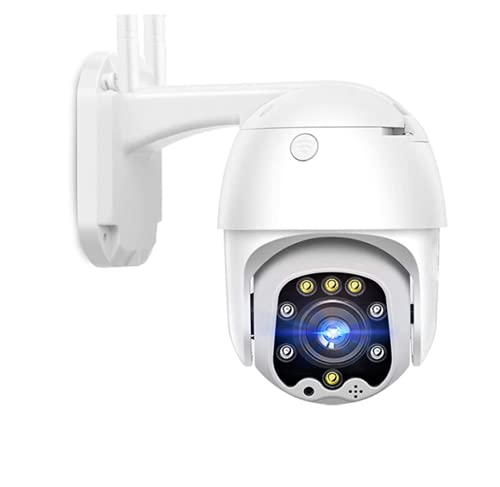 GOGR Outdoor Security Camera - 3G/4G SIM 1080P Full HD IP PTZ Camera with Alarm - PIR Motion Detection - Two-Way Audio-Night Vision Function - Weatherproof (Camera+32G TF)