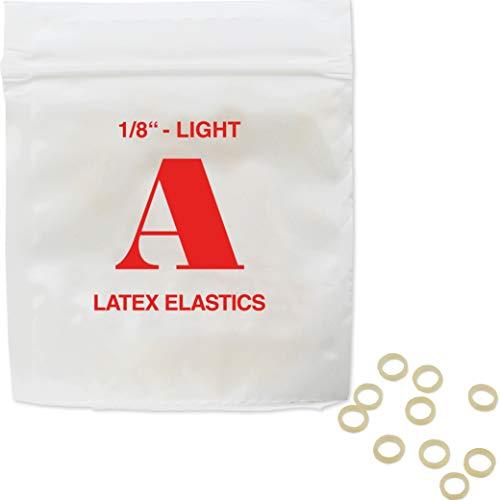 Patientenshop Intraorale Elastics aus bestem chirurgischen Latex, Rot A, Leicht 2,5 oz, Durchmesser 3,2 mm, 100 Stk Zahnspangen Gummis