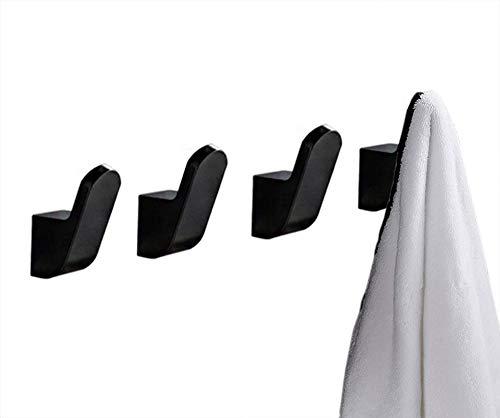 Autey Toallero sin taladrar, 8 ganchos de pared de aluminio, para baño, inodoro, albornoz, cocina, puerta, oficina, perchero