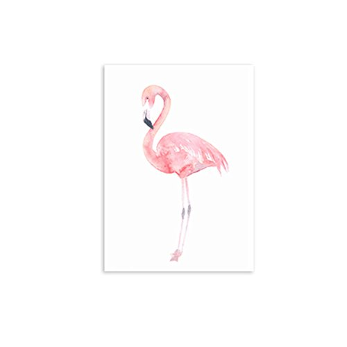 Gemini_mall® Moderne abstrakte Ölgemälde auf Leinwand, Rosa Flamingo, rahmenloser Wand-Kunstdruck fürs Schlafzimmer , Wohnzimmer und als Hausdekoration, B, 30x40cm
