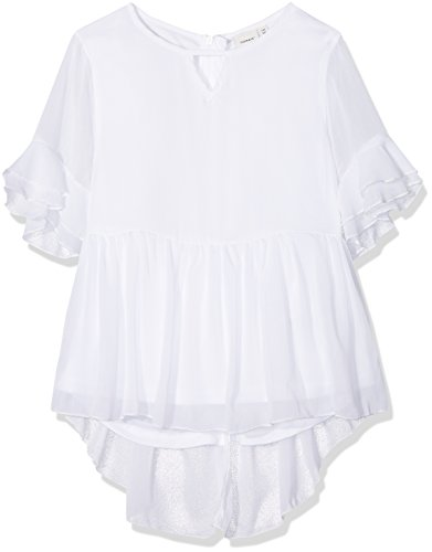 NAME IT Mädchen NKFKATILLA SS TOP T-Shirt, Weiß Bright White, 122
