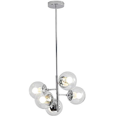 Lampadario, Lampada A Sfera Con Bolle Di Vetro, Lampada Molecolare Con Fagiolo Magico, Lampada Magica In Ferro Cromato Lampada Da Soggiorno Lampada Soffitto Lampada Da Ristorante