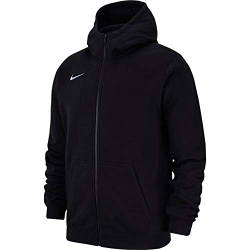 Nike Kinder Y Hoodie Fz Flc Tm Club19 Kapuzenjacke , Schwarz (black/Black/White/(white) , M