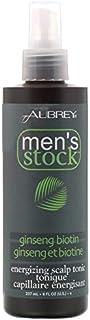 Aubrey Organics, Men's Stock, Energizing Scalp Tonic, Ginseng Biotin, 8 fl oz (237 ml) [並行輸入品]