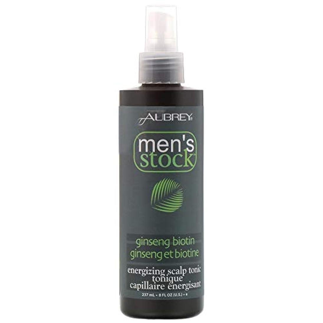 買うアラームピストルAubrey Organics, Men's Stock, Energizing Scalp Tonic, Ginseng Biotin, 8 fl oz (237 ml) [並行輸入品]