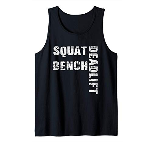 Deadlift Squat Bench Camiseta sin Mangas