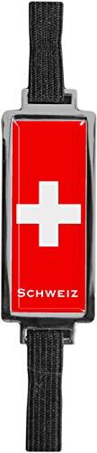 Schmucklesezeichen aus Metall mit gerader Kontur | Flagge Schweiz #9923007