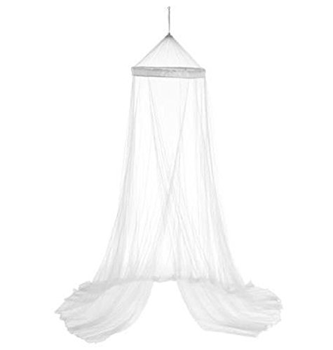 PEGANE Ciel de lit et moustiquaire Coloris Blanc - Dim : 60 X 250 cm