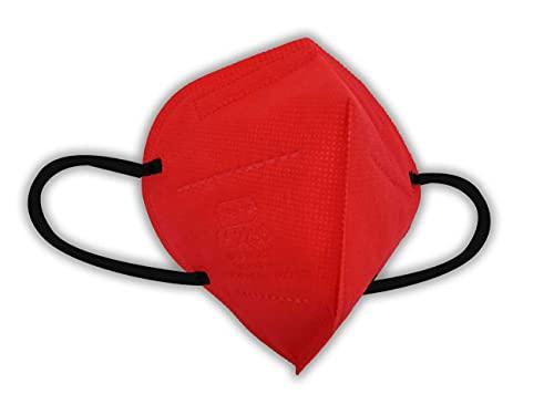 PROTECH TP RED MADE IN ITALY FFP2-Masken Zertifiziert CE 2233 Kategorie PSA: III, gemäß EN 149: 2001 + A1: 2009. Schachtel mit 10 einzeln verpackten Stücken