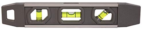 """Johnson Level & Tool 1405-0900 9"""" Project Magnetic Aluminum Extruded Aluminum Frame with High Impact plastic Covers,"""