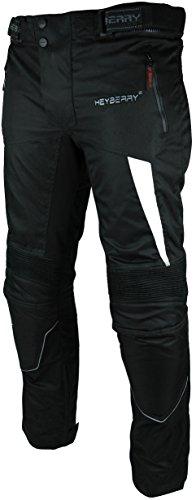 HEYBERRY Motorradhose Textil Schwarz Weiß Gr. M