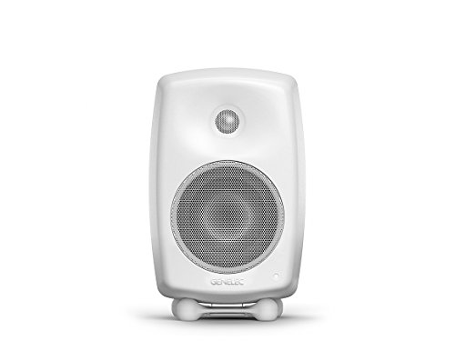 Genelec G Three Aktiv Lautsprecher Active Monitor Speakers, Weiss (Paar)