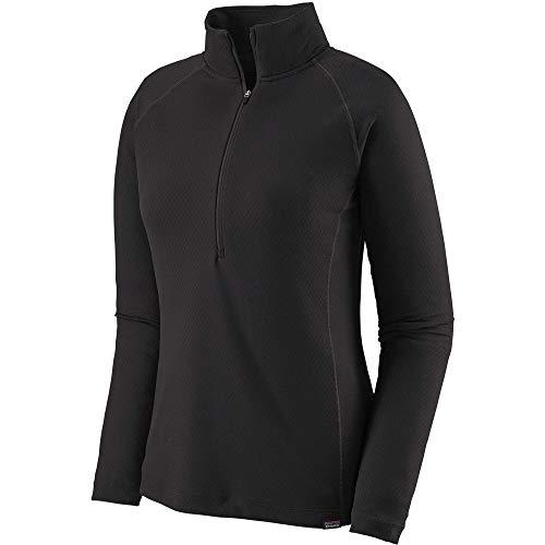 Patagonia W's Cap MW Zip Neck Sweat-Shirt pour Femme Noir Taille XS