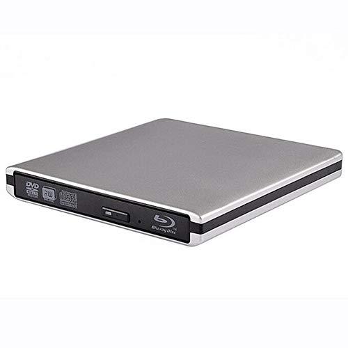 外部ブルーレイプレーヤーバーナー、USB 3.0 ポータブルブルーレイ BD CD DVD プレーヤーライターバーナー用マック、ウィンドウズ、Linxus、ノートパソコン、PC,White