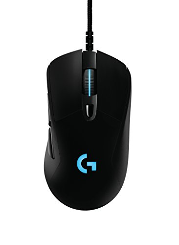 Prodigy G403 Wired Gaming RGB Mouse, 16.8 Million Backlight Colors, 6 Programmable Buttons, Onboard Memory, Up to 12,000 Dpi, Logitech G, Mice