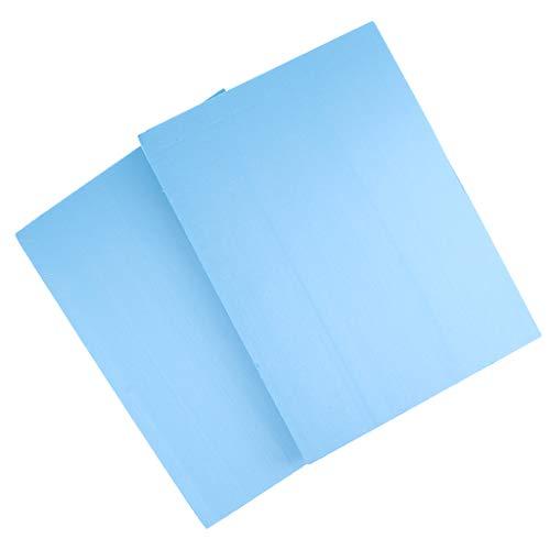 Sharplace Lot de 2pcs Panneau de Mousse Haute Densité Feuille PVC pour DIY Plate-forme de Jeu de Construction 29.5x39.5x4 cm - Bleu