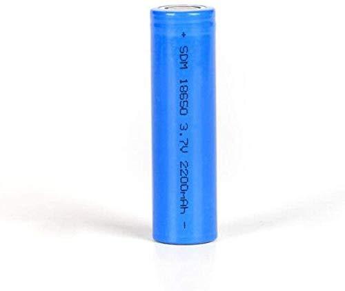 3.7V 18-6-50 Capacidad de la batería de Litio 2000 Batería de Litio 18-6-50-2 Piezas Linterna para Ciclismo Senderismo Camping Emergencia-2 Piezas