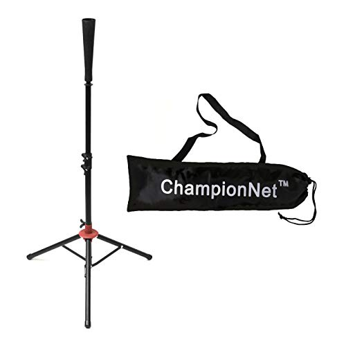 ChampionNet Batting Tee Tripod Portable Tee Stand for Baseball/Softball with Carrying Bag