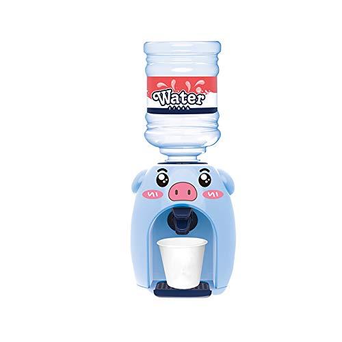 Clacce Mini Niedlichen Schweinchen Wasserspender mit Wassereimer Trinken für Home Office Student Wohnheim Kinder Geschenk