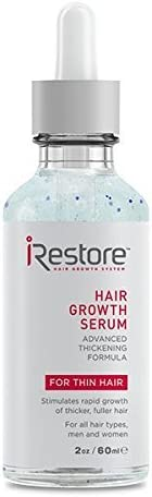 iRestore Anti-Hair Loss Serum w/ Redensyl and Vitamin E & B – Advanced Thickening Formula for Hair Loss, Balding & Thinning Hair – Promotes Regrowth For All Hair Types, Men and Women (2oz / 60ml)