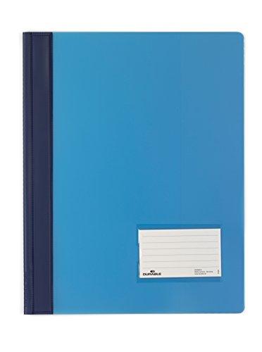 DURABLE Hunke & Jochheim Schnellhefter DURALUX®, transluzente Folie, für A4 Überbreit, 280x332mm, blau