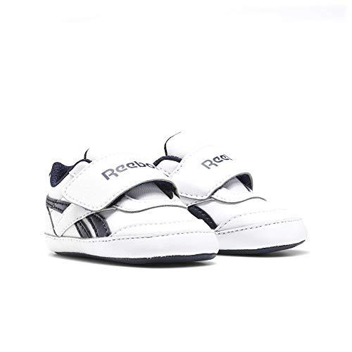 Reebok RBK Royal CL Jogger Layette, Zapatillas de Running, Blanco/Maruni/Blanco, 35 EU