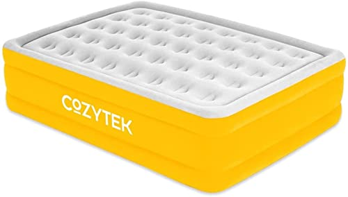 Cozytek Deluxe Inflatable Mattress King Size Double Blow up Air Bed with Built in Pump 203 x 152 x 46 cm, Storage Bag Included