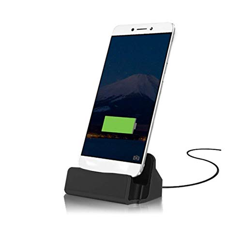 FNSHIP Cell Phone Dock Stand Station,Micro USB Desktop Dock Cradle Holder for Samsung Galaxy S7, S6, Note 5, J7, J7 PRO, J7V, J7 Sky Pro, J7 Perx,J7 Prime, Eclipse,Mission,J3V, Moto (Black)