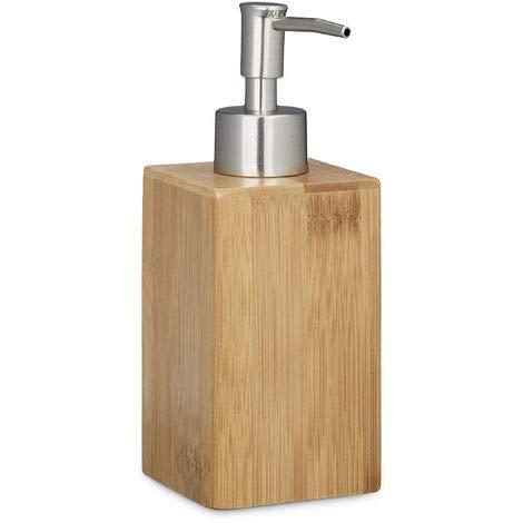 Unbekannt Seifenspender Bambus Volumen 240 ml Lotionspender mit Dosierpumpe Seifendosierer