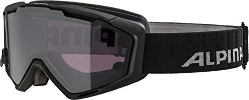 ALPINA PANOMA Magnetic Skibrille, Unisex– Erwachsene, black matt, one size
