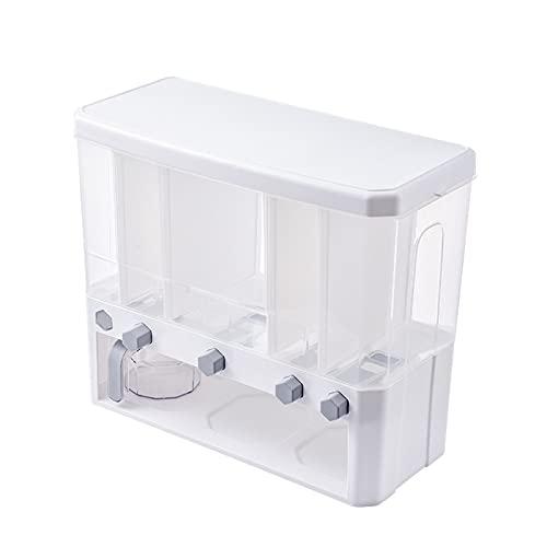 Crazyfly Rice Storage,Parete separato cereali cereali può riso,Riso Cilindro automatico scatola di plastica di riso per cucina