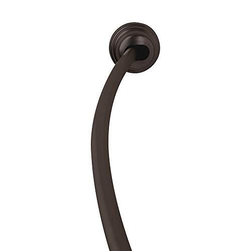 Zenna Home NeverRust Rustproof Aluminum Tension Mount Curved Shower Rod, Bronze