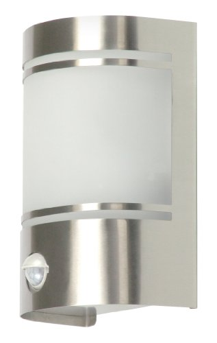 Ranex 5000.299 Luz de Pared de Exterior Diseño Moderno con Sensor de Movimiento, Cromado ✅