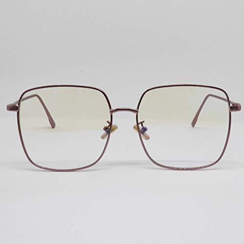Sista & Bro Eyewear - Anderson Rose Argent, occhiali da riposo anti luce blu, unisex, con lenti antiriflesso 100% UV, speciale per schermo di PC o videogiochi