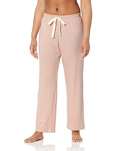 Amazon Essentials – Pantalones ligeros de tejido de rizo para mujer, Rosado claro, US S (EU S - M)