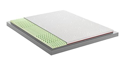 Mentor - Topper Correttore Memory Med H1 Singolo 80x200 Bio Med 2.1 DISP. Medico DETRAIBILE H5 cm - Sfoderabile e Lavabile.