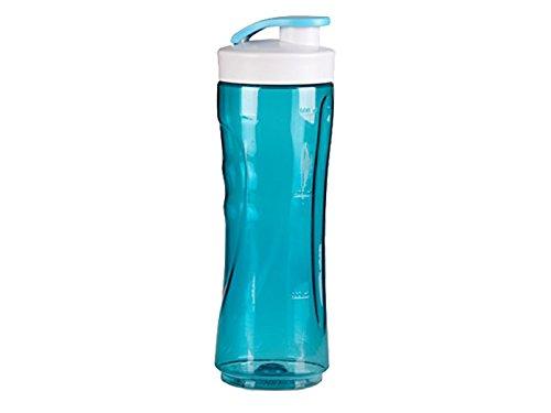 600ml Trinkflasche, Ersatzflasche für Smoothies + Smoothiemaker nutzbar, verschließbarer Ersatzbehälter(blau)