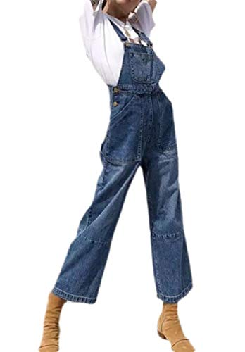 H&E Damen Herbst Jumpsuit Hosenträger Denim Jeans Overall Gr. M, blau